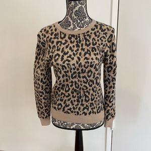 JCrew Leopard Sweatshirt - Size Medium